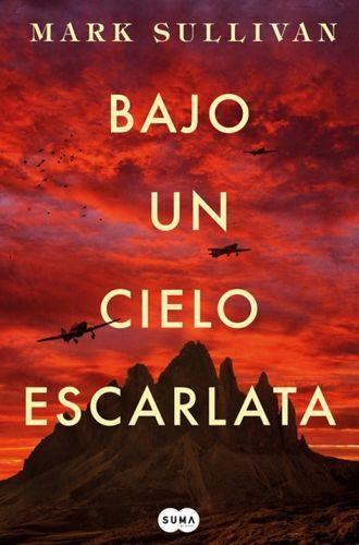 Libro bajo un cielo escarlata